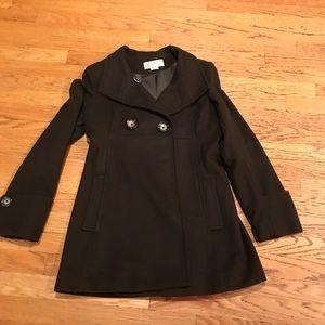 Michael Kors Dark Brown Pea Coat - Size 8